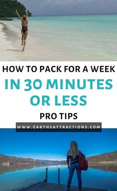 How to pack a suitcase for a week in 30 minutes or less. Discover packing tips and tricks from this article and find out how to pack like a pro! #packing #packinglist