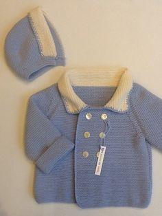 Chaquetón niño en lana Merino.