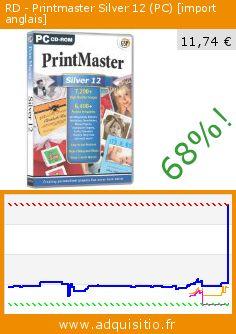 RD - Printmaster Silver 12 (PC) [import anglais] (CD-Rom). Réduction de 68%! Prix actuel 11,74 €, l'ancien prix était de 36,81 €. http://www.adquisitio.fr/avanquest/rd-printmaster-silver-12