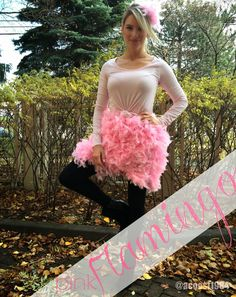 DIY Pink Flamingo Halloween Costume - Life with A.Co by Amanda L. Flamingo Halloween Costume, Halloween Costumes To Make, Mom Costumes, Clever Costumes, Halloween 2014, Adult Halloween, Adult Costumes, Costumes For Women, Halloween Party