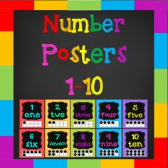 If you are looking to brighten up your classroom then these number posters are for you! The full product for numbers 1-20 can be purchased here. This pack contains 10 colorful number