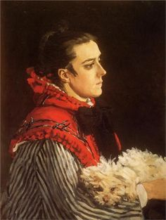 Camille with a Small Dog, 1866 Claude Monet