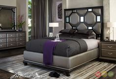 AICO After Eight Titanium Upholstered Bed Set by AICO for $2,608. Description from figstores.com. I searched for this on bing.com/images