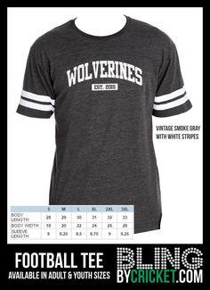 Mascot Football Tee - School Spirit Shirt - Spirit T-Shirt - Custom School Shirt…