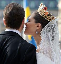 Love!!!Crown Princess Victoria on her wedding day