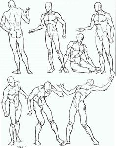 Free for personal use Male Figure Drawing Poses of your choice