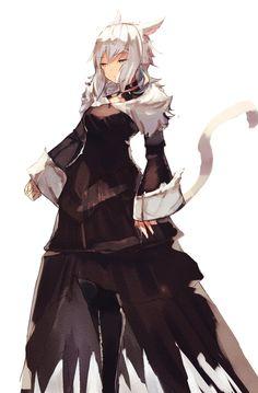#女の子 ヤ・シュトラ - トト의 일러스트 - pixiv Final Fantasy Art, Fantasy Races, Fantasy Series, Character Concept, Character Art, Character Design, Concept Art, Anime Wolf Girl, Anime Cat
