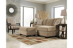 Living room ideas on pinterest small living rooms for Ashley circa taupe sofa chaise