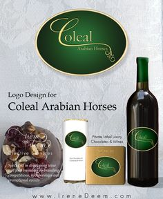 Very honored to design the logo for Coleal Arabian Horses, noted Arabian breeders, located here in Northern California!