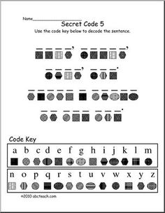 Summer Beach Secret Code Worksheet | Catch the Reading ...