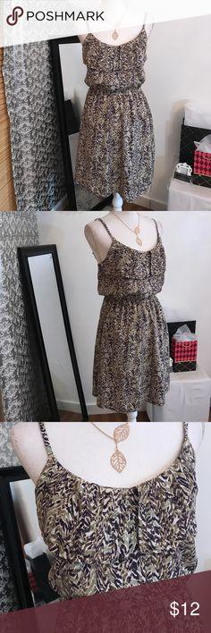 H&M spaghetti strap print dress Adjustable H&M Dresses