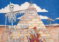 A cool Grateful Dead poster for their Egyptian Pyramids show! A Long Strange Trip, indeed! An original from Relix published in 1991! Art by Robert Bryson. Fully licensed. Ships fast. 23x32 inches. Hav