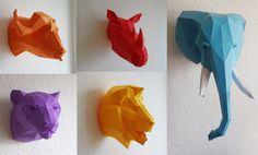 The Big Five | DIY | walldecoration | papercraft