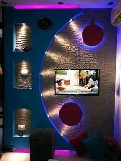 Kako urediti zid oko TV-a? – Recepti na brzinu Wall Unit Designs, Tv Unit Design, Tv Wall Design, False Ceiling Living Room, Drywall, Gypsum Wall, Gypsum Ceiling Design, False Ceiling Design, Lcd Units
