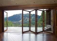 How can Decorate Foldable Glass Door To Your Home: Foldable Glass Door With Wood Floor ~ gozetta.com Decoration Inspiration