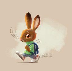 #kinderbuch, #illustration, #hase, #osterhase, #characterdesign, #ostern, #haeschenschule, #bunny, #rabbit, #zeichnung