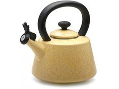 For stove - yellow or blue? Kettle or perculator? Butter 2-qt. Signature Teakettles Whistling Teakettle by Paula Deen at Cooking.com