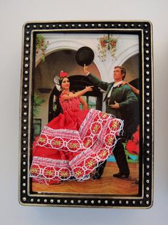 Match Box Vintage Match Box Holder Flamenco by SusieSoHoCollection, $15.00