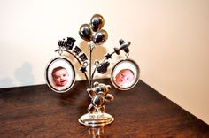 Silver Plated Collage Tree Twin Photo Frame Twin Babies, Baby Twins, Plate Collage, Twin Photos, Pearl Earrings, Drop Earrings, Triplets, Silver Plate, Personalized Gifts