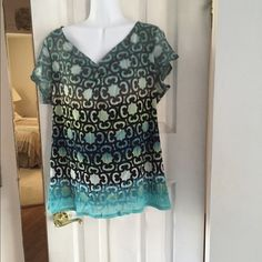 Axcess Blouse Axcess Blouse. Multi Color. Shell 100% Nylon. Lining 100% Polyester. Worn a few times. Axcess Tops Blouses