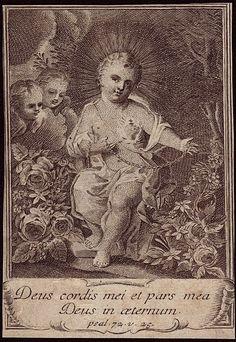 Christ Child art with Psalm.   YBH