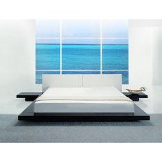 Modrest Opal   Low Profile Wenge Platform Bed