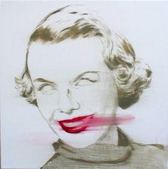 """Saatchi Art Artist János Huszti; Painting, """"Lip-sick"""" #art"""