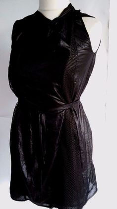 DIESEL Size L Black Stretch Fabric With Sequins Casual\Club Strappy Dress #DIESEL #Sundress #Casual