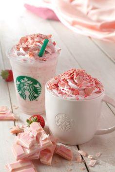 Milkshake starbucks maison fraise framboise