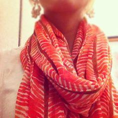 orange herringbone .