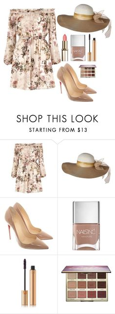 """Outfit #1500"" by ivanna1920 ❤ liked on Polyvore featuring River Island, Christian Louboutin, Nails Inc., Yves Saint Laurent and tarte"