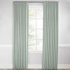 The curtain color every wall loves: Seafoam Slubby Linen Euro Pleated Curtains | Loom Decor