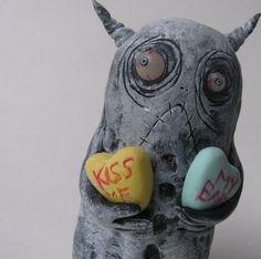 infestation monster ooak art doll sculpture for by mealy monster