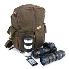 Zaino borsa per fotocamera - DSLR fotocamera borsa - zaino tela Mens - Mens  scuola Laptop Bag on Etsy 87db3b93d19
