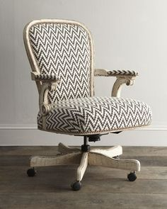 chevron office chair from horchow