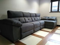 This modern sofa features electric recliners with adjustable headrests, storage under chaise and inside sofa arm provides additional practicality. Available in several sizes and configurations. Delivered to our client in Kent. Modern Sofa, Modern Bedroom, Contemporary Furniture, Recliners, Sofas, Leather Bed, Sofa Design, Electric, Arm