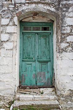 bellasecretgarden:   Door VI by Kostas Styliadis    Via Flickr: Door at Asomatos village, at Lesvos island. Greece