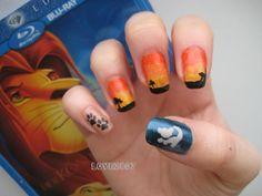 disney lion king nail art | Schönes Wochenende dann noch meine Lieben ♥