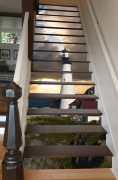 Modern Staircase Design Ideas - Stairs are so common that you do not give them a second thought. Look into best 10 examples of modern staircase that are as magnificent as they are . Stairway Art, Stairway To Heaven, Modern Staircase, Staircase Design, Staircase Ideas, Staircase Remodel, Escalier Art, Stair Stickers, Beautiful Stairs