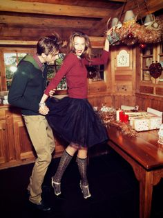 visual optimism; fashion editorials, shows, campaigns & more!: merry christmas: sanna, valentina and alexander by andrea olivo for vanity fa...