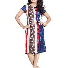 Multiple Color Jute Fabric Western Dress
