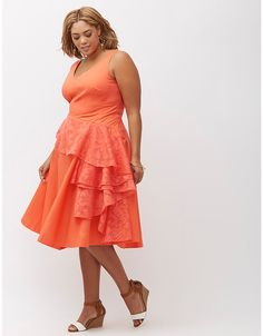 57aa6b0823a Lane-Bryant-Cascade-Drape-Dress-Womens-Plus-18-