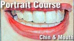 Online Art Class - 5 - The Mouth and Chin - Paint Basket TV Art Lessons Online, Online Art Classes, Basket Tv, Painted Baskets, Watercolor Paintings, Watercolour, Painting Tutorials, Portrait, Gold