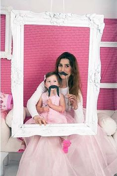 Great idea for little girls birthday party. Have dress up tutus and gowns (or have them make own tutu there) and then take a photo. Have them decorate cheap wood frame for their photo as party favor.