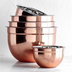 Copper Mixing Bowls Mutfak – home accessories Kitchen Buffet, Cute Kitchen, Kitchen Sets, Kitchen Utensils, Rose Gold Kitchen, Copper Kitchen Decor, Black And Copper Kitchen, Copper Kitchen Accessories, Copper Decor