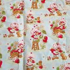 Check out this item in my Etsy shop https://www.etsy.com/listing/274198032/strawberry-shortcake-fabric