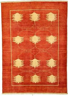 Rust Red 5' 3 x 7' 4 Floral Modern Ziegler Rug | Oriental Rugs | RugsOnTime