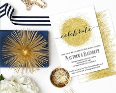 Rehearsal Dinner Invitation Engagement Party by AModernSoiree