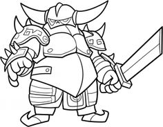 how to draw pekka from clash of clans step 14