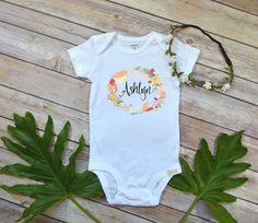 Custom Name shirt Boho Feathers shirt Personalized Baby